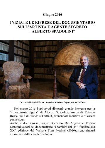 DOCUMENTARIO ALBERTO SPADOLINI 2016