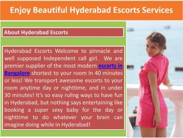 Enjoy Beautiful Hyderabad Escorts Services