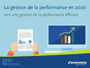 La gestion de la performance en 2020