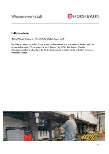 Wissenswerkstatt U-Bahnschule