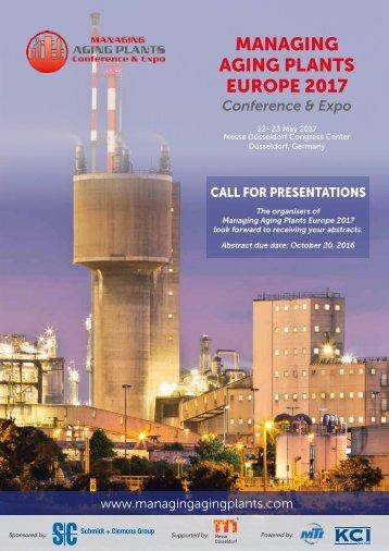 MANAGING AGING PLANTS EUROPE 2017