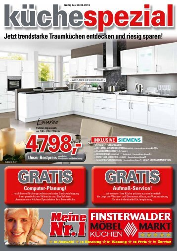 Finsterwalder-Kueche-Spezial: Jetzt trendstarke Traumküchen entdecken und riesig sparen!