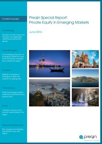 Preqin Special Report Private Equity in Emerging Markets marketsbased subregion