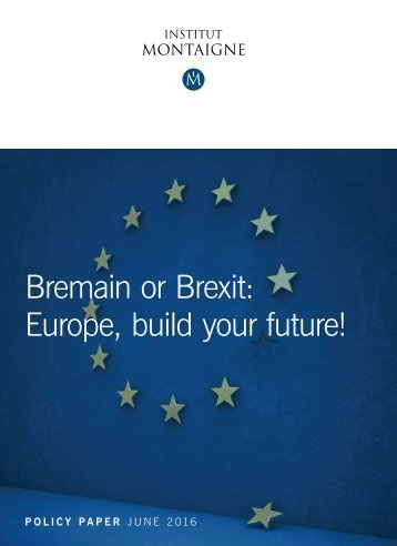 Bremain or Brexit Europe build your future!