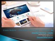 Create Website - Chameleon Print Group - Australia