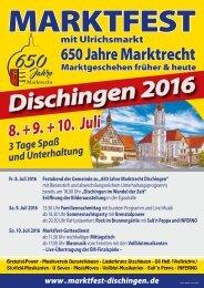 Dischingen Marktfest 2016