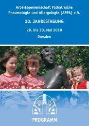 PROGRAMM - Universitätsklinikum Carl Gustav Carus