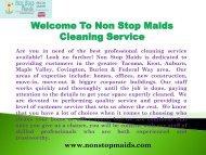 Maid Services Tacoma WA| Non Stop Maids