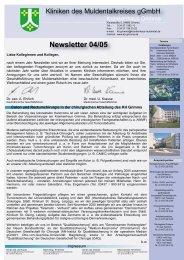 Newsletter 04/05 - Krankenhaus Wurzen
