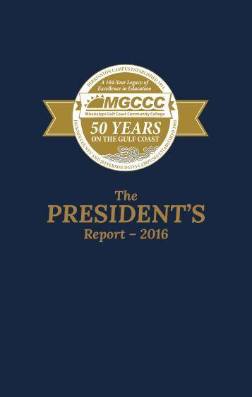 President's Report 2016