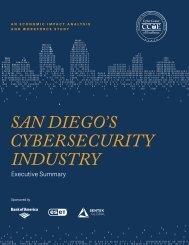 SAN DIEGO'S CYBERSECURITY INDUSTRY