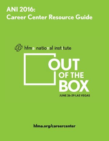 ANI 2016 Career Center Resource Guide