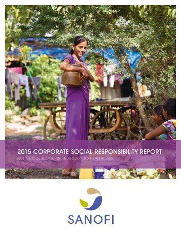 2015 CORPORATE SOCIAL RESPONSIBILITY REPORT