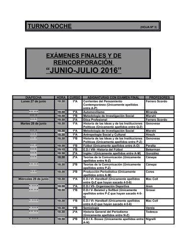 """""""JUNIO-JULIO 2016"""""""