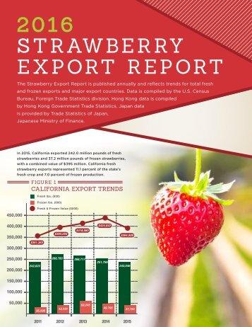 2016 S T R AWB E R RY EXPORT REPORT