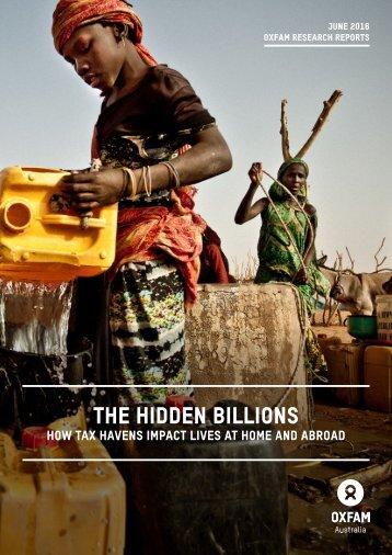 THE HIDDEN BILLIONS