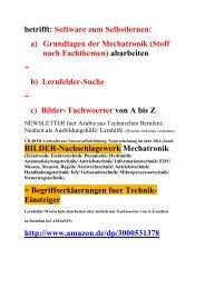 Mechatronik-Wissen fuer Studenten Schueler Lehrer Azubis