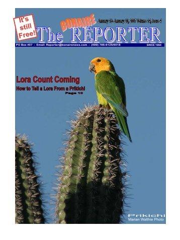 01-19-07 - Bonaire Reporter