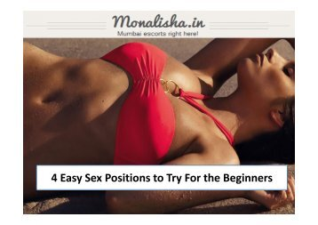 4 Easy Sex Positions to Try For the Beginners