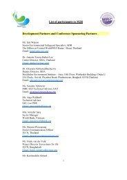 List of participants - Mekong River Commission