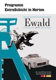Programm Extraschicht 2016 - Standort Zeche Ewald