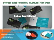 Business Cards $88 Special - Chameleon Print Group - Australia