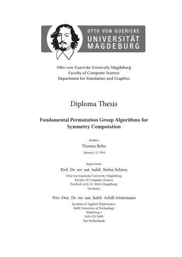 Diploma Thesis - Fachbereich Mathematik der Universität Rostock