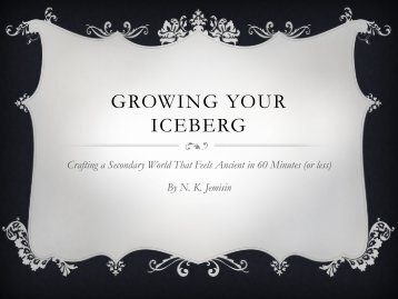GROWING YOUR ICEBERG