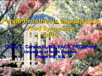 Penile Prosthesis Implantation