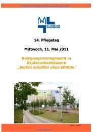 Betten schaffen ohne Waffen - Städtisches Klinikum Magdeburg