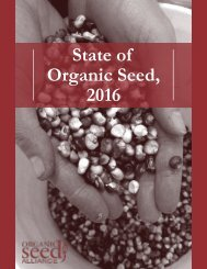 State of Organic Seed 2016
