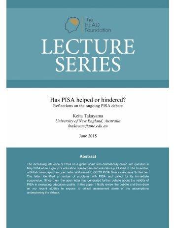 Has PISA helped or hindered?