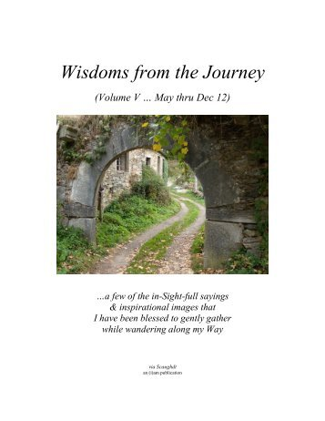 Wisdoms from the Journey - Vol V (May to Dec 2012)
