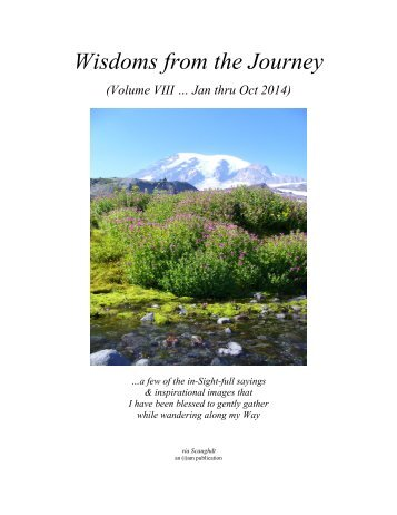 Wisdoms from the Journey - Vol VIII (Jan thru Oct 2014)