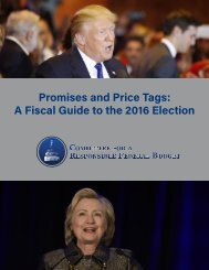 Promises and Price Tags A Fiscal Guide to the 2016 Election