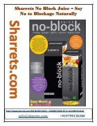 sharrets -Say No to Blockage Naturally