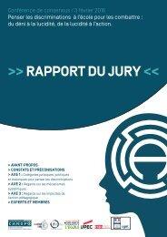 >> RAPPORT DU JURY <<
