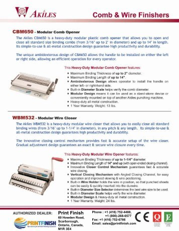 Comb Binding Module CBM650 Akiles Machine Printfinish.com