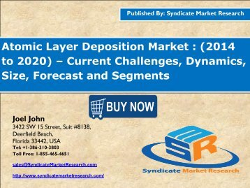 Atomic Layer Deposition Market....