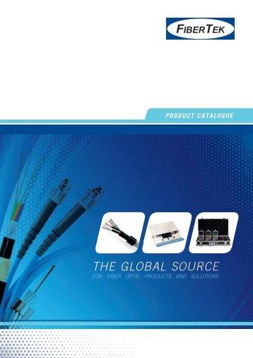 Catalogue on fiber optic products - FiberTek
