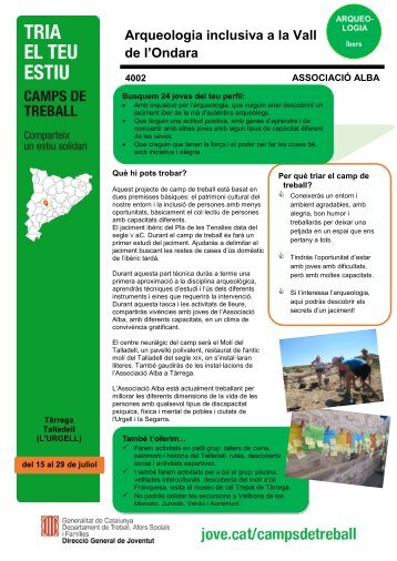 Arqueologia inclusiva a la Vall de l'Ondara