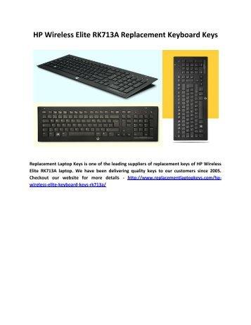 HP Wireless Elite RK713A Replacement Keyboard Keys