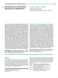 Klassifikation der intrakraniellen Blutungen des ... - Degum