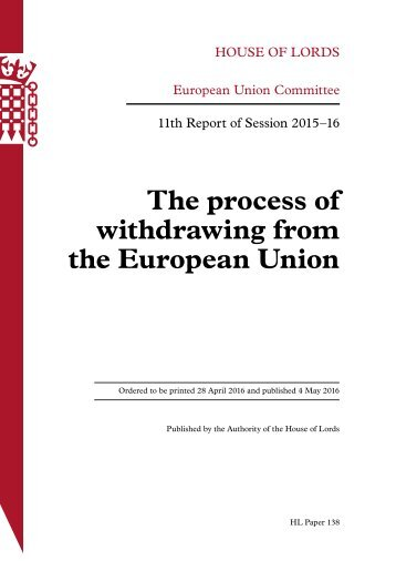 The process of withdrawing from the European Union