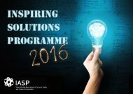 Welcome to the IASP Inspiring Solutions Programme 2016!