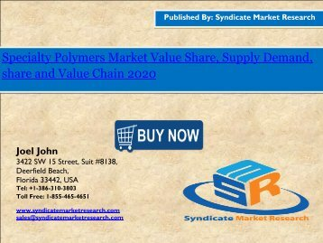 Specialty Polymers Market share,Forecast, Analysis 2020.