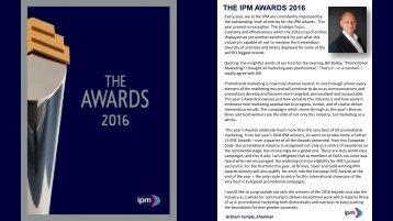 THE IPM AWARDS 2016