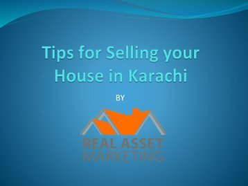 Tips for Selling your House in Karachi