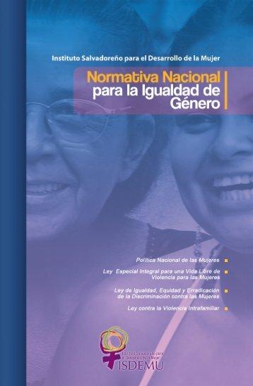 normativa nacional para la igualdad de genero