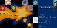 KHM-1059-10 Weihnachtskarte EW.indd - Klinik Hohe Mark